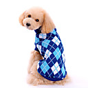 Dog Sweaters-XS/S/M/L/XL-Winter-Blue-Classic/Plaid-Woolen