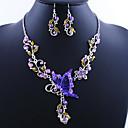 Erstaunlicher Schmetterling Legierung mit Acryl Halskette, Ohrringe Schmuck-Set (weitere Farben)