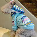 Classic Weaved-track Print Warm Sweater with Hoodies for Pets Dogs (Assorted Colors, Sizes)
