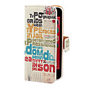 Vintage Magazine Cover pattern PU Caso Full Body con slot per schede e Stand per iPhone 5C