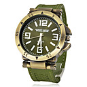 Men's Watch Military Green Bronze Silicone Strap