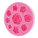 3D Rose Silikon Cookie-Keks Mold