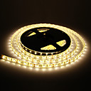 Vattentät 5M 60W 60x5050SMD 3000-3600LM 2800-3200K Warm White Light LED Strip Light (12V)