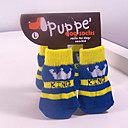 Dog Socks & Boots - S / M / L - Winter - Blue Cotton