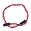 2 PIN Dupont Wire Female Connector 200mm Lengde 2.54mm Pitch - Red + Black