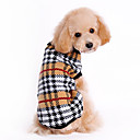 Dog Sweater / Clothes/Clothing Brown Winter Plaid/Check