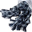 술 클래식 작은 격자 무늬의 아크릴 섬유 까만 따뜻한 겨울 스카프