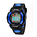 Kinderen / Men 's SYNOKE LEO Dial Digital PU Zwart Band Water Resistant Wrist Watch