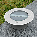 White Light LED Solar Light Round Recessed Deck Dock Pathway Garden Light