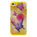 Custodia protettiva 2-in-1 design Shimmering viola farfalle Pattern for iPhone 5/5S