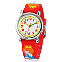 Children's 3D Cartoon Prinses Patroon siliconen band Little Round Dial Quartz Analoog polshorloge