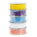 5 färger söta ihålig spets formade band