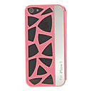 MOMOCA High Quality PC and PU Full Body Case with Pierced Back Cover for iPhone 5/5S(Assorted Colors)
