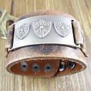 Punk 24Cm Men'S Brown  Leather Bracelet(Brown)(1 Pc)