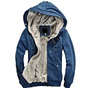 Men's Fashion with A Hood Plus Velvet Warm Hoodies Coat