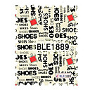 5PCS Latest Water Transfer Printing Stamp SHOE Writing Graffiti Nail Art Stickers BLE Sery No.1889