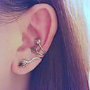 verlässt Ohrclip Ohrring Puck-Rock-Stil mit antiken Messingohrring für linken Ohr (1 Stück)