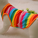 Cat / Dog Shirt / T-Shirt / Clothes/Clothing Rainbow Summer / Spring/Fall Stripe Fashion