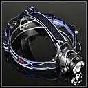 BORUIT A6 Rechargeable 3-Mode Cree XM-L T6 Zoom LED Headlamp(1200LM,2*18650,Black)