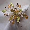 Golden Crystal Flower Napkin Ring, Acrylic, 4.5cm, Set of 12