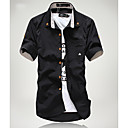 Men's Casual Stripes Embellishment Slim Shirt