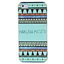 Hard Case Hakuna Matata couleur Dessin Motif Cadre de PC pour l'iPhone 5/5S