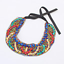 Luxury drive Boho stil Nasjonal Hand Made Collar For Women Dress, fargerike perler Choker Erklæring Hals