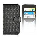 S5-Horse Angibabe Grid PU Leather Case with Card Slot for Samsung Galaxy S5/i9600
