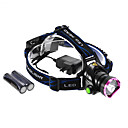 Rechargeable 3-Mode 1xCree XM-L2 T6 Waterproof Headlamp Set(2x18650,1200LM)