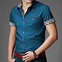 Men's Cuff Printing Business Short Sleeve Shirt