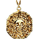 Pirates Of The Caribbean Aztec Antique Gold Skull Pendant Necklace Exaggerated Men Fashion Vintage Necklace