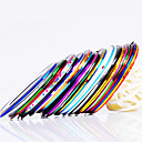 12pcs 12-Color Striping Tape Linje Nail Stripe Tape Nail Art Dekor klistremerke