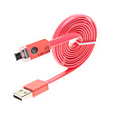 1M LED Checker Micro USB 2.0 Noodle Shape Cable for Samsung S2/S3/S4/Note2,HTC M7/M8,Sony,LG,Moto Cell Phones