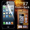 Protective HD Front + Back  Screen Protector for iPhone 4/4S(7PCS)