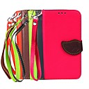 Full Body Cases Cases with Stand Solid Color Silicone PU Leather for Samsung S5 I9600