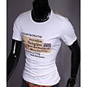 För män rundan förser med krage slanka Kontrast Färg kortärmad t-shirt