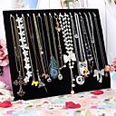 lureme®blackベルベットのネックレスとブレスレットの表示ボックス