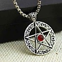 Z&X®  Fashion Pentagram Titanium Steel Pendant Necklace