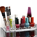 Acryl transparent Kosmetika Lagerstand Make-up Pinsel Topf Quadrat kosmetische Veranstalter