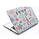 Cartoon Eiffel Tower Patterns Folio Plastic Protective Hard Shell Case for Macbook Air 13