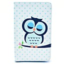 Sleeping Owl Cartoon Pattern Full Body Case with Stand for Samsung Galaxy Tab 3 Lite T110