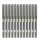 Direct Liquid Black Ink Gel Ink Pen (Black,12-Pack)
