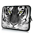 Elonno Tiger Leder Neopren Laptop Sleeve Case Bag Pouch Cover for 13'' Macbook Pro / Air Dell HP Acer
