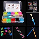 Loom Bands Small Size Multicolor Rubber Band C For Kids (1 Box)