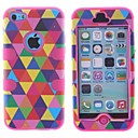 Multicolour Pattern Three-in-One Robot Design PC and Silicone Full Body Case for iPhone 5C