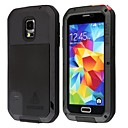 LOVE MEI HW01 Aluminum Alloy + Silicone Back Casewith Strap for Samsung Galaxy S5 - Black