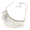 European Style Alloy Tassel Statement Necklace