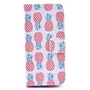 Buy Red Pineapple Pattern White PU Leather Full Body Case iPhone 5C