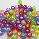 Z&X®  DIY Beads Material Transparent Colored Letter Beads 100 PCS(Random Color, Pattern)
