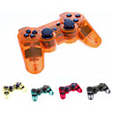 Transparent sans fil Bluetooth DS3 Sixaxis Controller Rechargeable Joypad pour PS3
